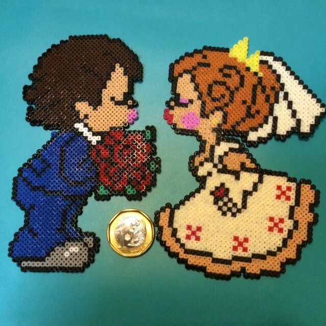 Wedding hama beads by Yeam Yen