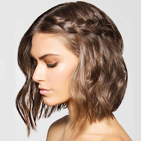 Side braid for short hair. 8 Braids That Look Amazing on Short Hair | Byrdie.com