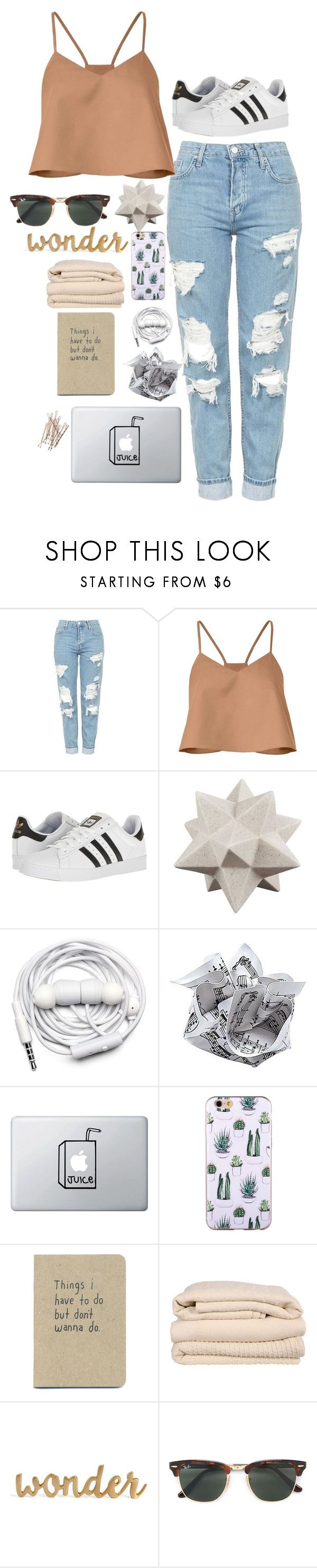 """Untitled #479"" by emmas-weird ❤ liked on Polyvore featuring Topshop, TIBI, adidas, Moe's, Urbanears, Brahms Mount and Ray-Ban"