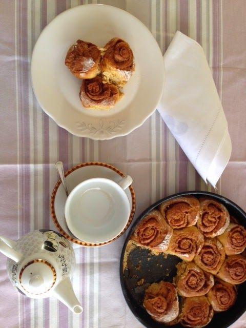 Rollos de calabaza y canela / Pumpkin and Cinnamon Rolls, from Blue Cuisine