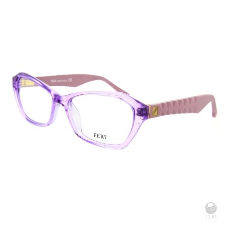 FERI - Helisinki Purple - Optical - Violet acetate optical glasses - Arms made with matte plastic for a luxury look - FERI logo on both outer arms - Rectangular frame shape - Comes with non-prescription plano Lens - Incredibly unique styling will turn heads  www.gwtcorp.com/ghem or email fashionforghem.com for big discount