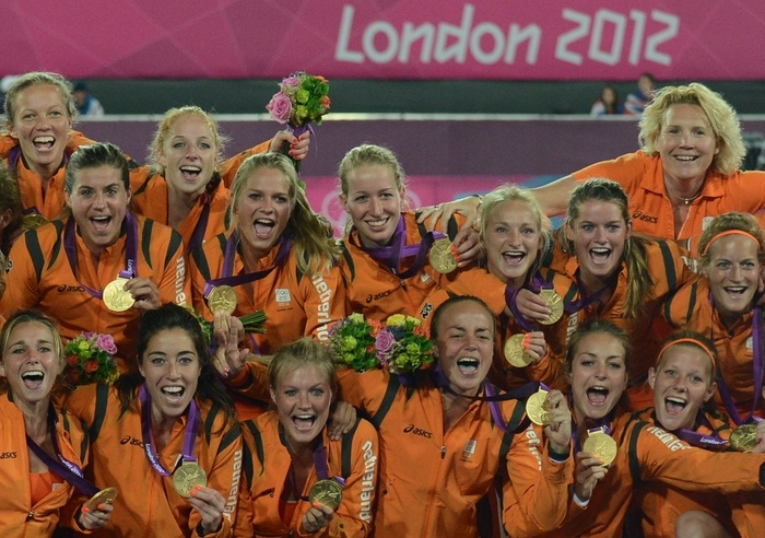 Women hocky team winning the gold medal for the second time in a row, winning by 2-0 from Argentina. Olympics 2012