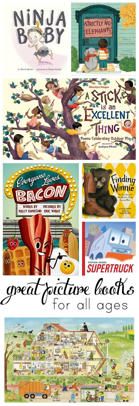 Eight pictures books- perfect to read out loud to your kids!
