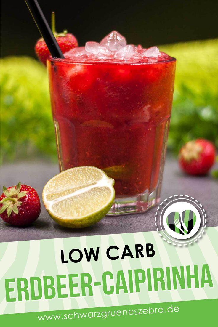 Erdbeer-Caipirinha, low-carb und erfrischend