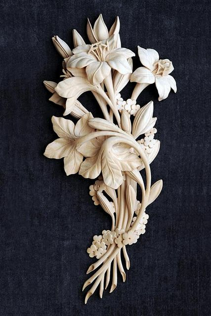 Lelies 2006 : Grinling Gibbons Style of Woodcarving by patrick Damiaens, via Flickr.