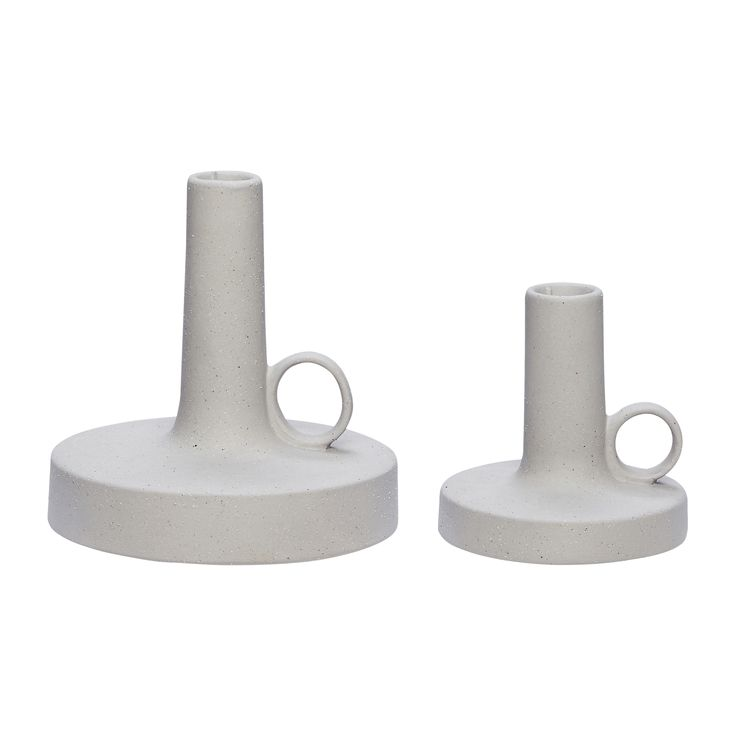Ceramic candlesticks with handle. Product number: 640307 - Designed by Hübsch