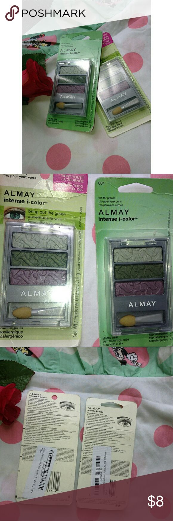 🦄 ALMAY EYESHADOW WITH CHOKER INCLUDED ♡  Almay eyeshadow palettes! Not open, brand new! Gorgeous eyeshadow colors! Beautiful to wear anytime of the day! Choker included!   Made of: N/A ♡ Fast Shipper: same day or next morning according to when purchased ? If have any questions.. please feel free to comment below - xoxo. Almay Makeup Eyeshadow
