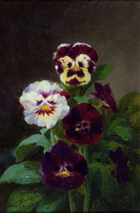 """1862, """"Pansies"""" - John Williamson (1826-1885)"""