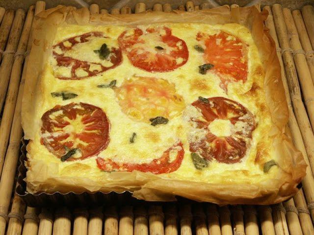 Summer Tomato Tart | Summer Yummies | Pinterest