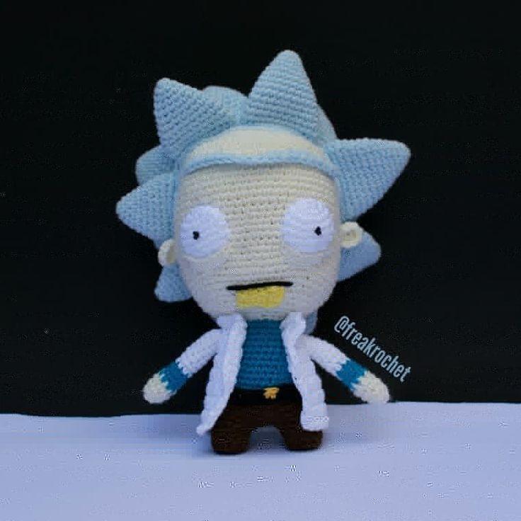 Rick and Morty amigurumi   Crochet goodies, Crochet batman ...   736x736