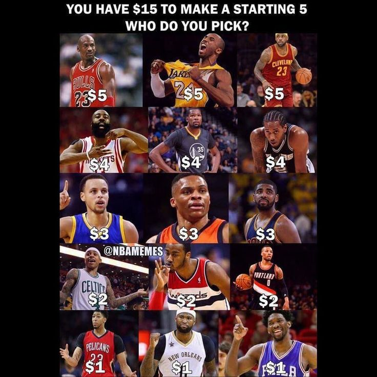 Who have $15 to make a starting 5 who do you pick?