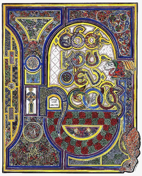 Book of Kells 'Jesus Wept'