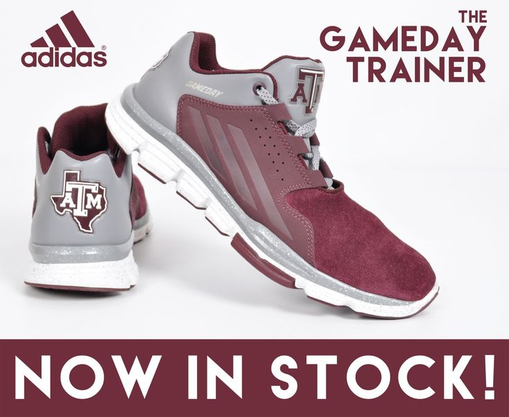 #Adidas Gameday Trainers are HERE! #gameday #aggies #TAMU #gigem