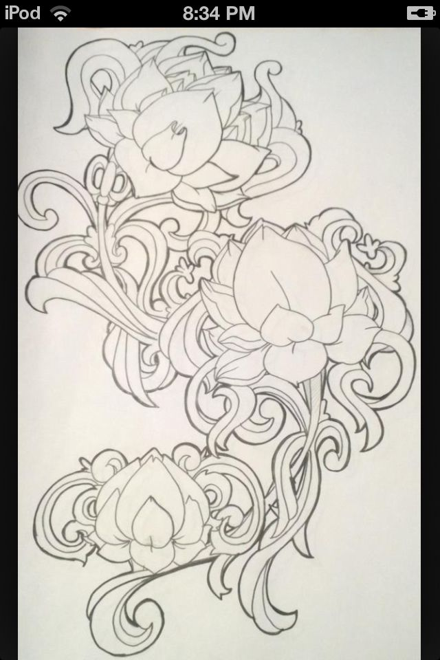 Like this design, maybe wrapped around my arm?