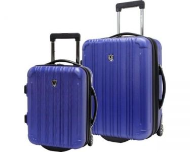 Traveler's Choice New Luxembourg 2pc Carry-On Hard-sided Luggage Set - Blue
