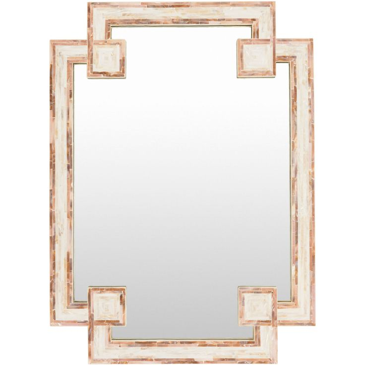 Lovely Banks Ivory And Beige Mirror Surya Rectangle Mirrors Home Decor
