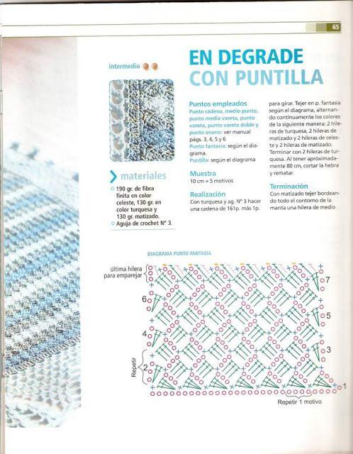 41 best MANTILHAS BEBÊ images on Pinterest | Crochet patterns ...