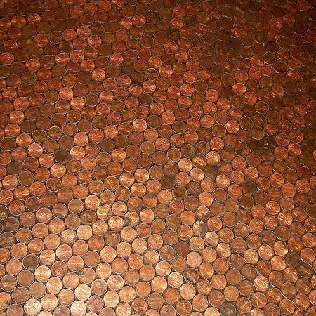 Floor made out of pennies floors made out of pinterest - Floor made out of pennies ...