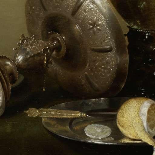 Stilleven met vergulde bierkan, Willem Claesz. Heda, 1634 - stillevens-Collected Works of Eva Corpeleijn - All Rijksstudio's - Rijksstudio - Rijksmuseum