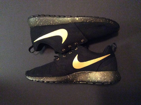 Womens Gold Rush Custom Roshe Run by ItFitzUS1 on Etsy