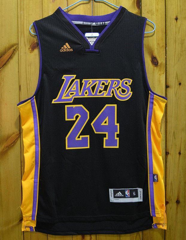Men 24 Kobe Bryant Jersey Black Los Angeles Lakers Swingman Jersey ... fb70f1719
