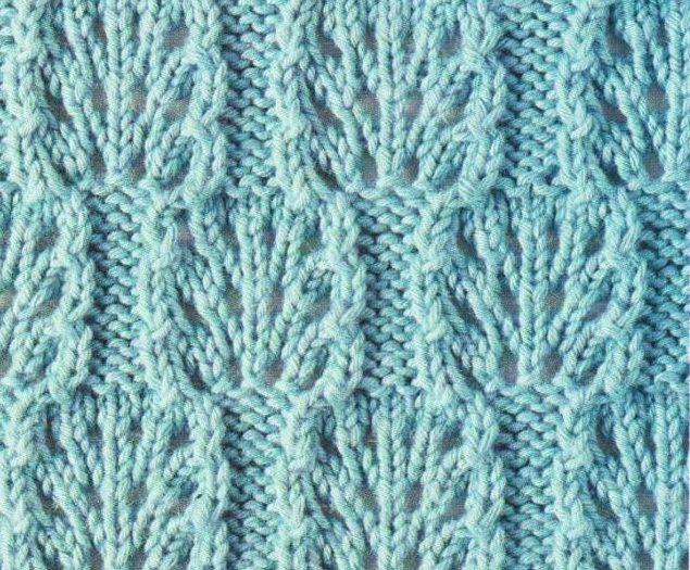 Knitted Lace Blocks Stitch