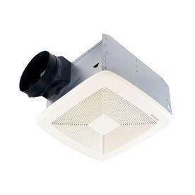 Broan 1 4 Sone 150 Cfm White Bathroom Fan Energy Star Qtxe150