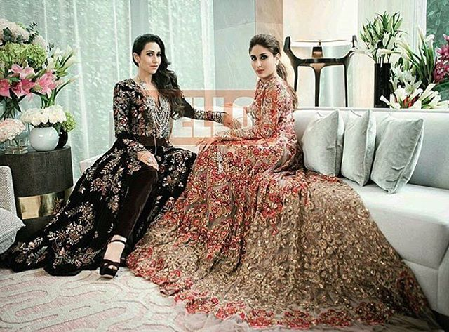 Gorgeous Kapoor sisters in @ManishMalhotra05 couture for @HelloMagIndia.