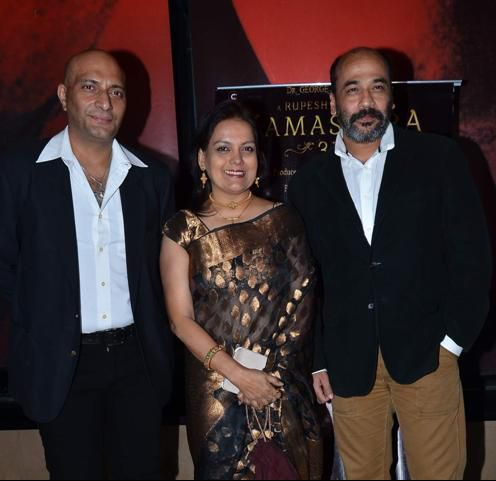 Sushmita Mukherjee and Amit behl at the trailer launch event of #kamasutra3d.