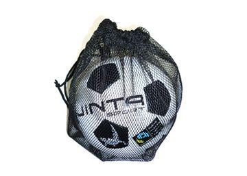 Ball Bag (1 ball). 'Made from a polyester mesh with a draw string. Designed to carry 1 ball.' #soccer #football #fairtrade #bag #ballsforgood