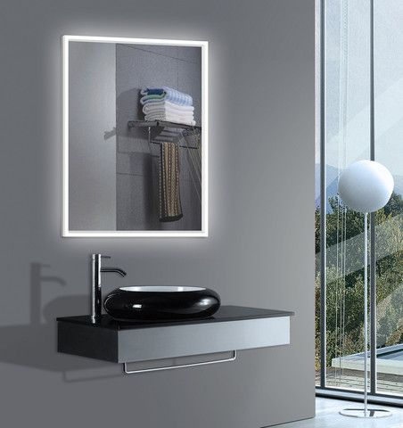 The Art Gallery Lighted bathroom Mirror with Acrylic side Size x x inches
