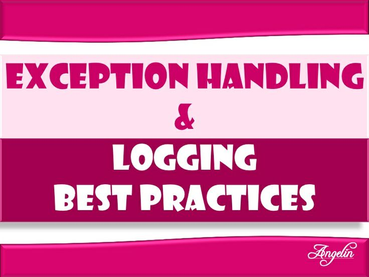 Java Exception handling and logging best practices ~ by Angelin R via Slideshare