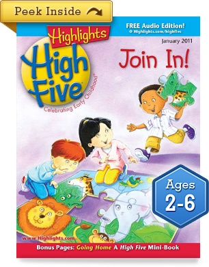 Highlights magazine... or a magazine for kids to be included in children's door prize at reunion.