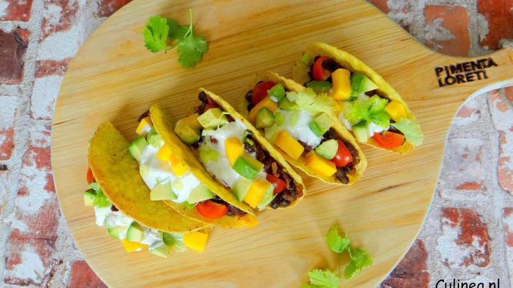 Vegetarische taco's met bonen