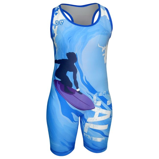 Get ready to catch some waves in our MyHOUSE Women's Cali Surf Singlets. MyHOUSE singlets are designed for comfort and durability also MyHOUSE is the largest seller of custom #wrestling Gear in the USA.