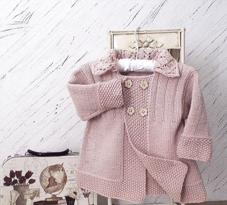 Ravelry: Baby девушки куртка с кружевной воротник P063 шаблоне НГЕ трикотаж образцов
