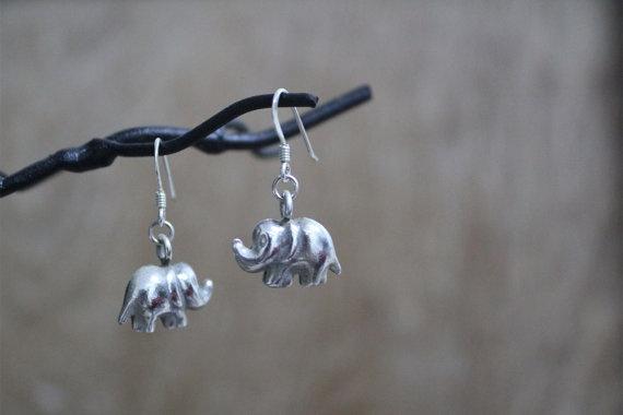 Super Cute Chubby Elephant Earrings by walaikorn on Etsy, $15.00: Etsy Promotion, Elephants Earrings, Super Cute, Elephant Earrings, Chubby Elephants