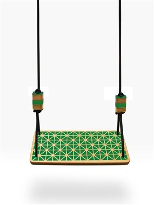 Timber garden swing seat in Grid