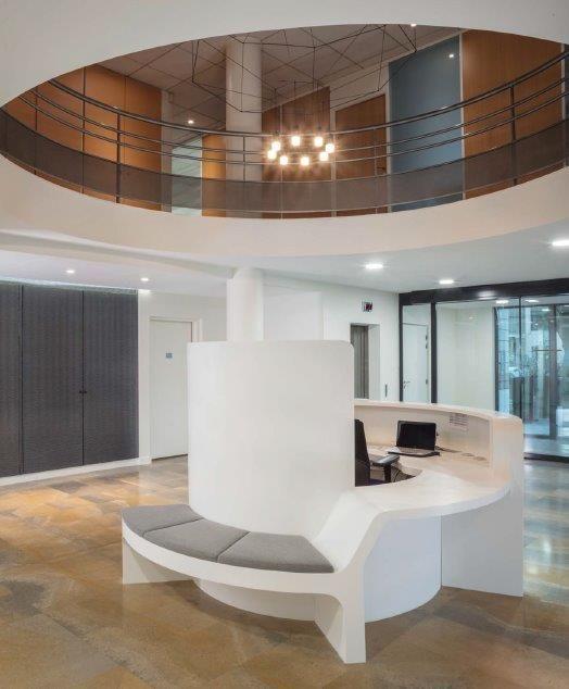 Aménagement dun hall daccueil aménagement bureaux décoration conception