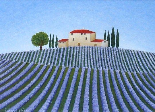 Paesaggio con lavanda  Cesare Novi