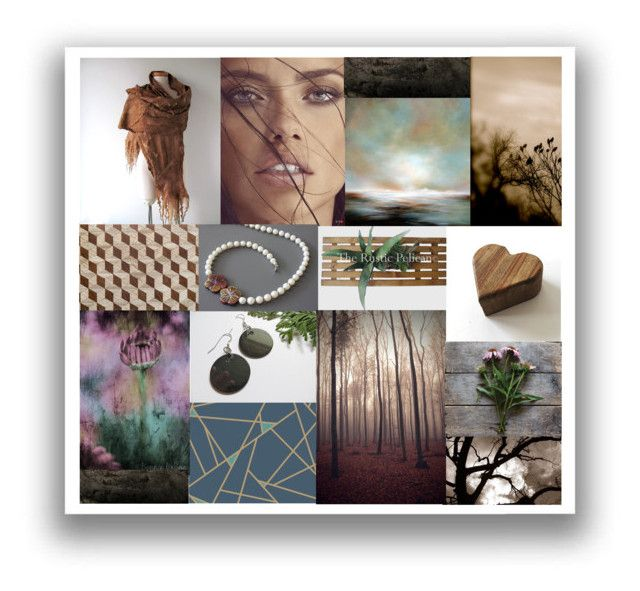 """""""Natural Things"""" by crystalglowdesign ❤ liked on Polyvore featuring art, rustic and vintage"""