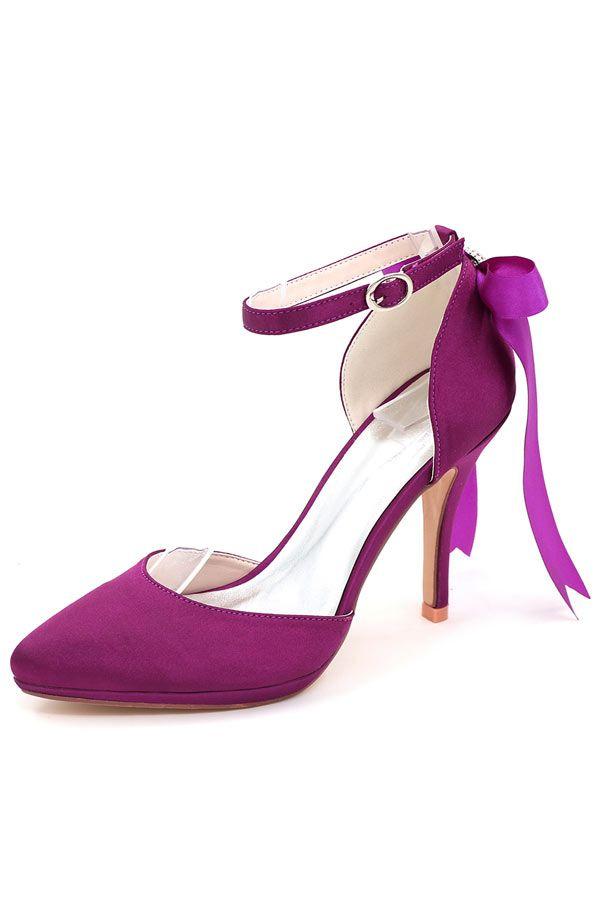 340fb626862a6 Escarpin pour mariage violet avec ruban en noeud papillon   Sandales femme  sublime livraison gratuite !   Pinterest   Sandales femme, Sandales et  Escarpins