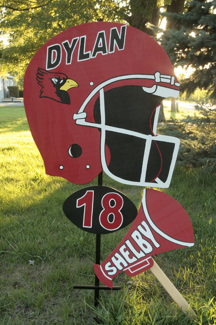 Football And Cheer Signladybiz On Etsy Com Personalized