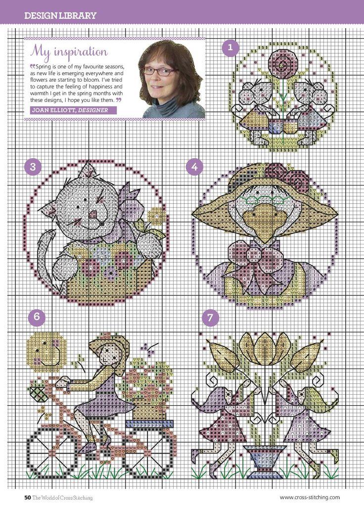 TS Seasonal Sweeties by Joan Elliott 4/8 The World of Cross Stitching Issue 225 pin furry