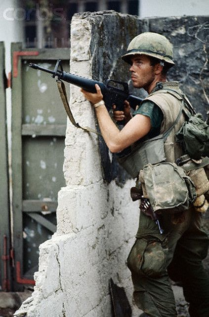 https://flic.kr/p/6EXskF | U1583328-8 | 04 Feb 1968, Hue, South Vietnam --- American Marine Holding M16 Rifle During Vietnam War --- Image by © Bettmann/CORBIS