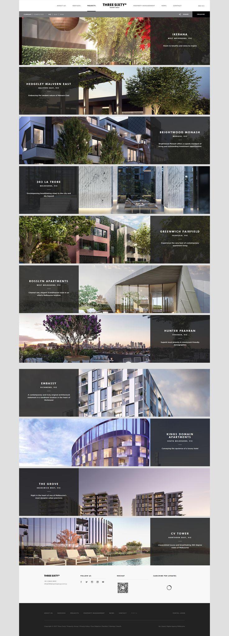 UX product list web design