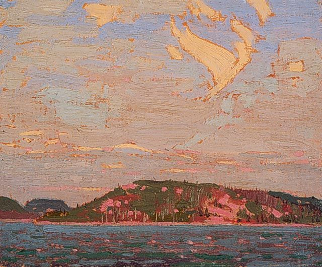 Tom Thomson, Rocky Shore (1916) Tom Thomson, Sunset Sky (1915) Note: click on any image to enlarge Anyone who has followed this blog for awhile knows I'm a big fan of Canadian artist Tom Thom…