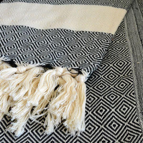 Lightweight Pareo Turkish Hammam Spa Black Towel