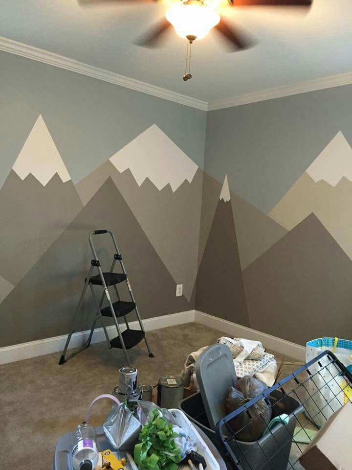 If you like simplistic this is more than doe able and for Diy mountain mural