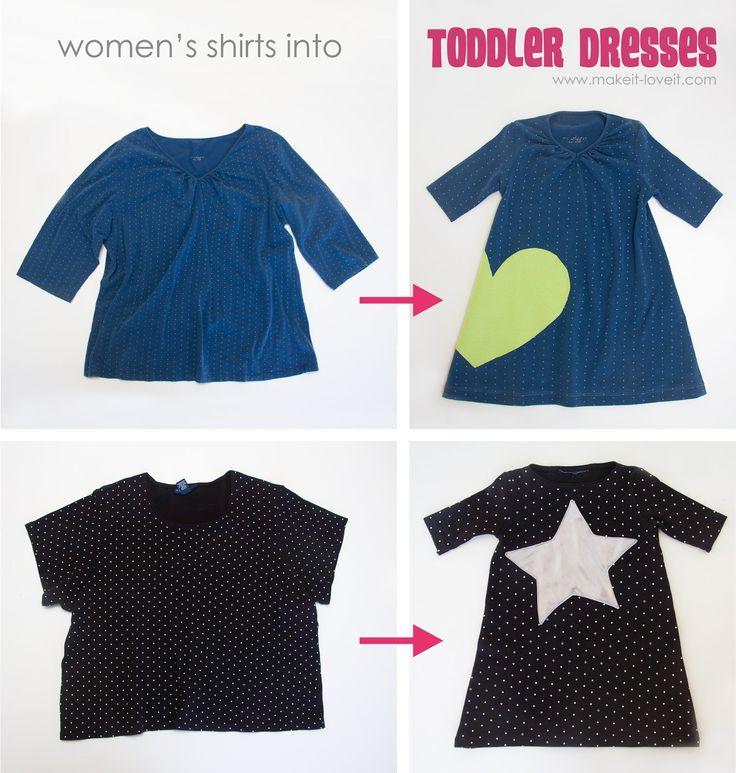 Kinderkleid Aus altem Erwachsenen t Shirt tutorial